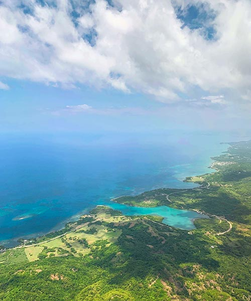 Flying Over Montego Bay